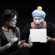Funny mimes — Stock Photo