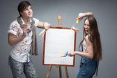 Crazy painters — Stock Photo