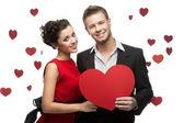 Caucasian smiling couple — Stock Photo