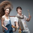 Stock Photo: Crazy painters
