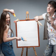 Crazy painters — Stock Photo