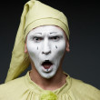 Stock Photo: Funny mime