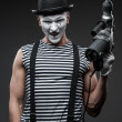 Stock Photo: Mime with hammer drill