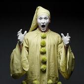 搞笑 mime — 图库照片