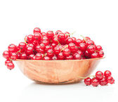Red currant  in plate — Zdjęcie stockowe