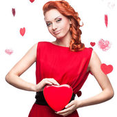 Smiling red-haired woman — Stock Photo