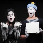 Funny mimes — Stock Photo
