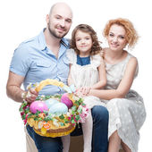 Happy casual family — Stock Photo