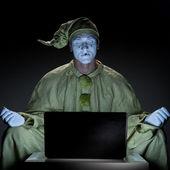 Mime on internet — Stock Photo