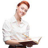 Caucasian business woman — Stock Photo
