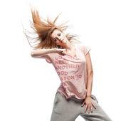 Girl hip-hop dancer — Stock Photo
