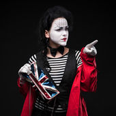 Frau mime — Stockfoto