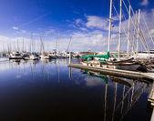 Reflections at the Marina — Stock Photo