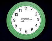 Blank clock — Stock Photo