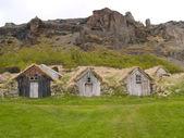 Traditional Icelandic Turf Houses — Stock Photo