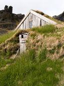 Traditional Icelandic Turf House — Stock Photo