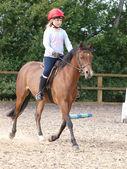 Young Girl Enjoying Horse Riding — Stock Photo