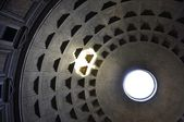 Pantheon interior with light — Stock Photo