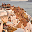 Stock Photo: Beautiful sunset in a Santorini
