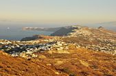 The view from a monastery in Santorini island — 图库照片
