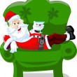 Stock Vector: Cartoon Santa
