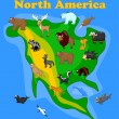 Stock Vector: Animals of North America