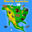 Animals of North America - Stock Vector