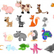 SET cute animals — Stock Vector