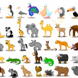 Royalty-Free Stock Vector Image: Extra large set of animals