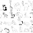 Royalty-Free Stock Vector Image: Set of animals