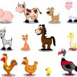 Extra large set animals — Stock Vector #13582685