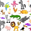 Extra set animals — Image vectorielle