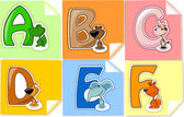 """The letter """"ABC DEF"""" to the alphabet for children — Stock Vector"""