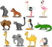 Set of vector animals — Stock Vector