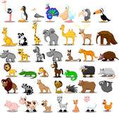 Extra grande conjunto de animales — Vector de stock