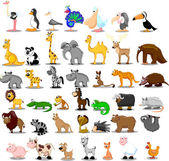Extra large set of animals — Vector de stock
