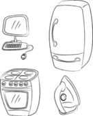 Vector set home appliances — Cтоковый вектор