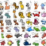 Big set of cartoon animals — Stock Vector #13736193
