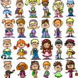 Cute happy cartoon kids — Vector de stock #13736906