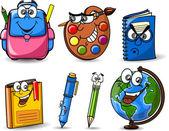 School accessories — Cтоковый вектор