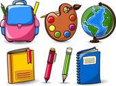 Accessori scuola — Vettoriale Stock
