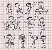 Set of Music Doodles — Stock Vector