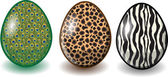 Cartoon easter eggs, happy easter — 图库矢量图片