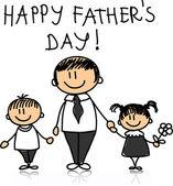 Día de padre feliz — Vector de stock