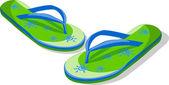 Vector flip flops — Stock Vector