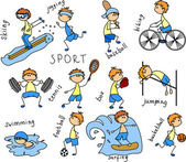 Cartoon sport icon — Vector de stock