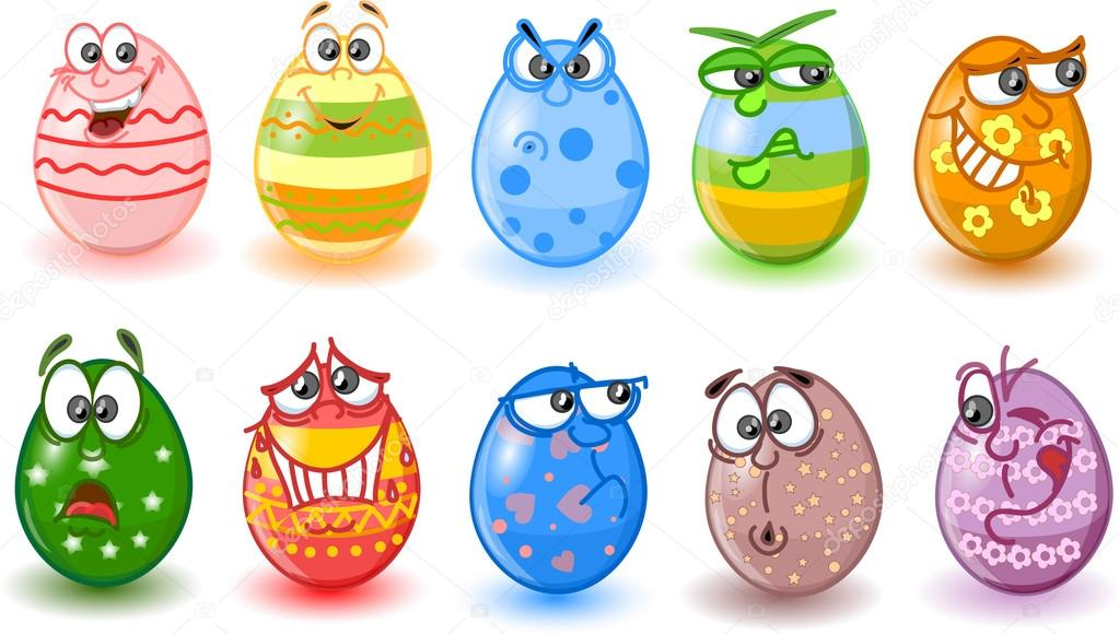 Easter Eggs Cartoon Pictures Cartoon Easter Eggs Happy