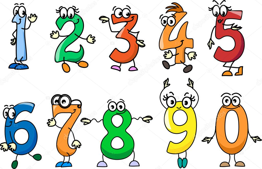Stock Illustration Cartoon Numbers on Clipart Numbers 1 To 10