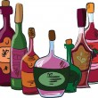 Vector collection of wine bottles — Stock Vector #13880363