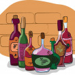 Vector collection of wine bottles — Stock Vector #13880367
